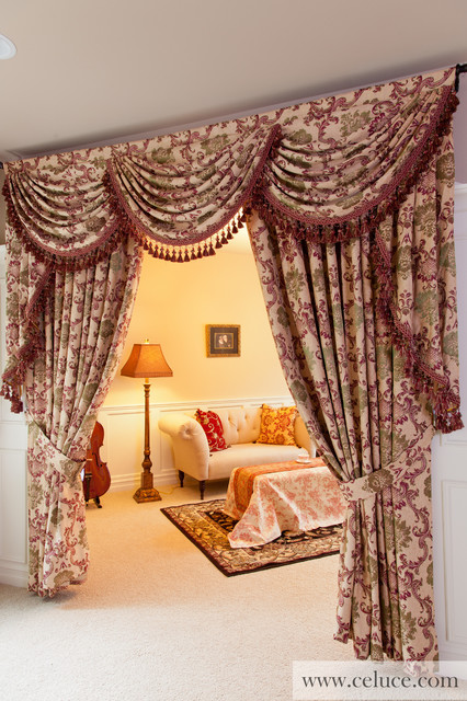 Valance Curtains With Swags And Jabots Traditional By