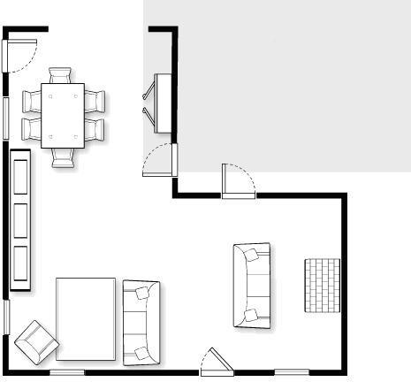 L shaped living dining room design problem L shaped living dining room design ideas