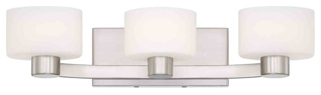 Quoizel TU8603BN Tatum Brushed Nickel 3 Light Vanity contemporary-bathroom-lighting-and-vanity-lighting