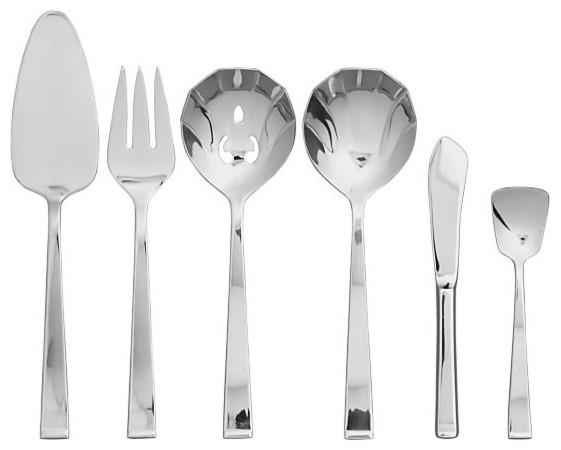 Arctic 6-Piece Serving Set modern-serving-utensils
