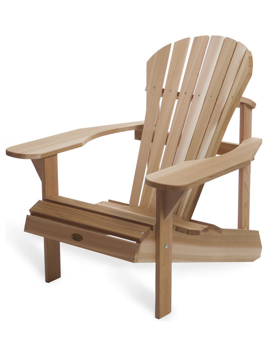 All Things Cedar - Cedar Adirondack Athena Chair - Our most comfortable chair with a flair. Plenty of room for snacks and beverages thanks to the generously oversized 7 inch arm paddles. Item is made to order.