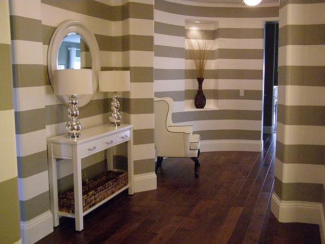 Gray Striped Entry contemporary