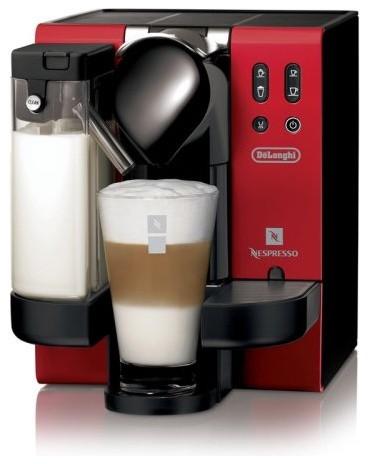 DeLonghi EN660.R Red Lattissima Capsule Espresso Machine contemporary-coffee-and-tea-makers