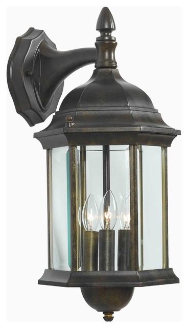 Kenroy 16267GBRZ Custom Fit 3 Lt. Wall Lantern modern-outdoor-lighting