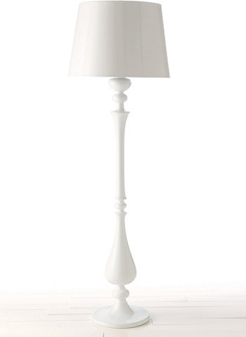 Arteriors White Lola Floor Lamp and Shade - contemporary - kids