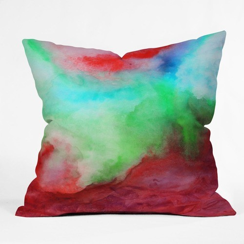 Jacqueline Maldonado Polyester The Red Sea Indoor/Outdoor Throw Pillow modern-outdoor-cushions-and-pillows