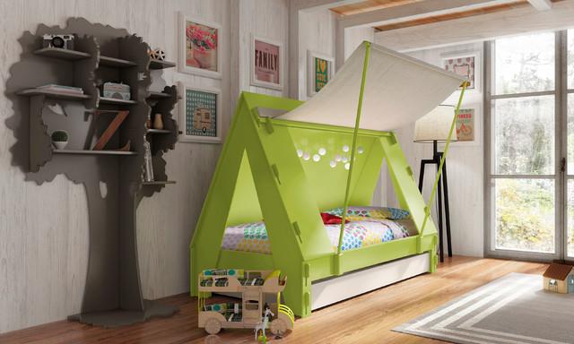 Modern Cabin Bedding: Kids Bedroom Trundle Cabin Tent Bed