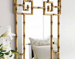 Bamboo-Look Mirror asian-wall-mirrors