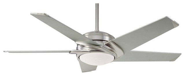 "Contemporary 54"" Casablanca Brushed Nickel Stealth™ Ceiling Fan contemporary-ceiling-fans"