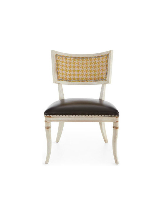 'Calvin' Chair - I love surprises, and a contemporary dining chair with a sorbet houndstooth pattern is a great place to feature the color of the year. Not to mention, you get two fierce interior design trends in one.