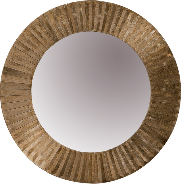 Dessau Home Antique Gold Faceted Sunburst Mirror contemporary-mirrors