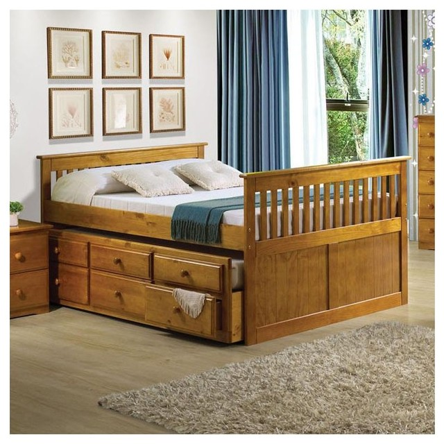 Atlas Youth Honey Oak Bed - modern - beds - other metro - by Adarn
