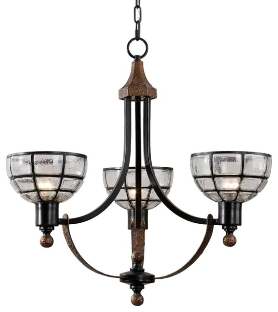 Traditional Uttermost Gelati 3-Light Chandelier traditional-chandeliers