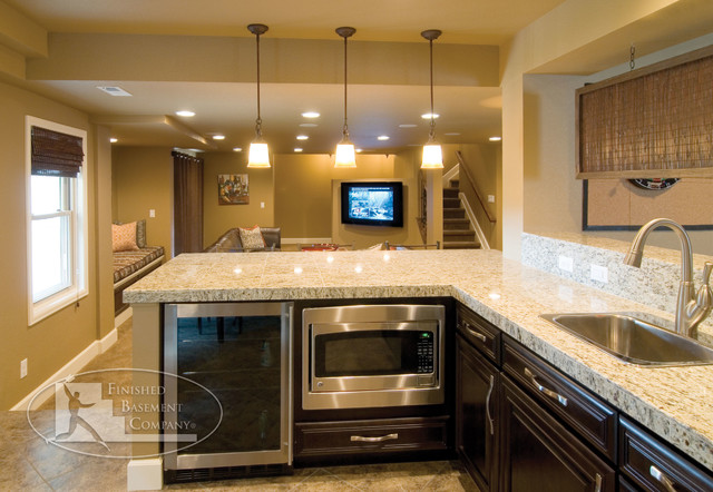 Basement design denver home decoration live - Wet bar basement ideas ...