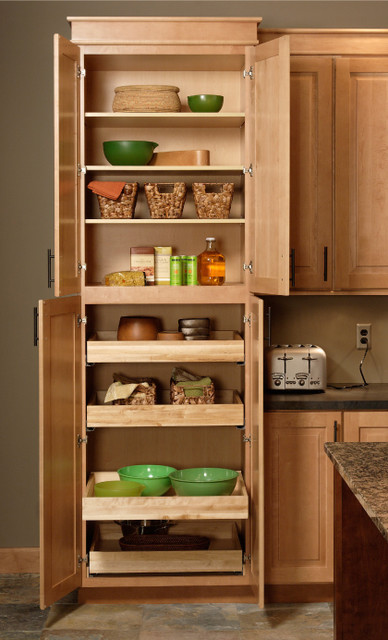 Pantry cabinet traditional for Kitchen pantry cabinet