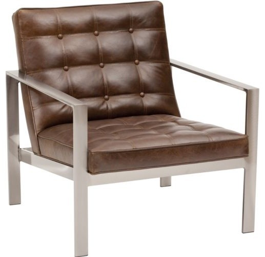 Nigel Leather Chair Contemporary Armchairs And Accent