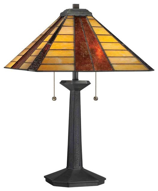 Quoizel TF1256TVB Tiffany Vintage Bronze Table Lamp transitional-table-lamps