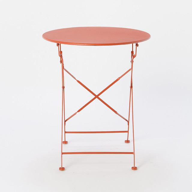 Painted Metal Bistro Table Red Modern Indoor Pub And Sets By Terrain