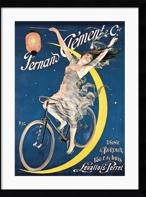 Clement Cycles (c. 1897) Framed Print by Jean De Paleologue traditional-prints-and-posters