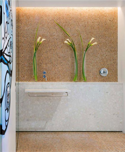 "Habitus Cork Mosaic ""Penny"" Tile modern"