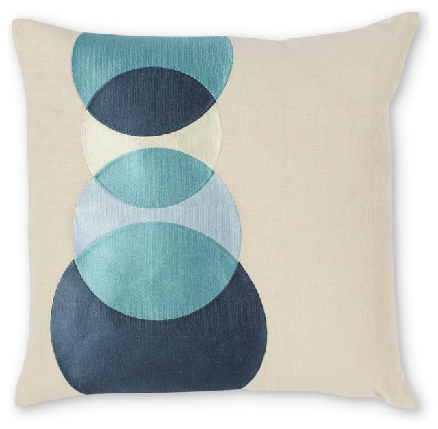 Four Eyes Pillow, Ocean contemporary-decorative-pillows