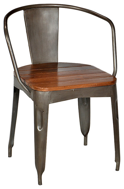 iron dining chair stainless steel industrial dining chairs by