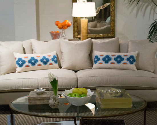 Cabana Home vignette: Baker Sofa - Available at Cabana Home