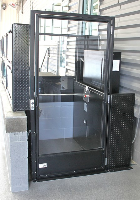 Clear Plexi Vertical Wheelchair Lift - Modern - nashville - by Symmetry Elevating Solutions