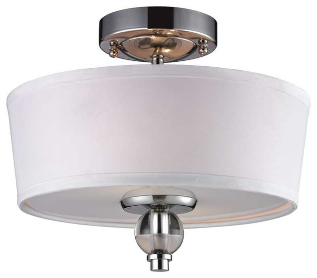 Elk lighting 31284 2 martina modern semi flush mount for Semi flush mount lighting modern