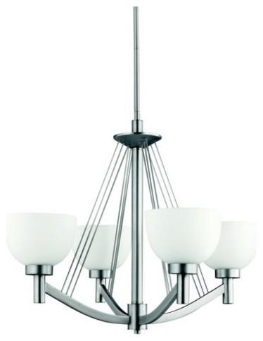 Kichler Lighting Kichler Brantley 1006NI Chandelier - 25 in. - Brushed Nickel contemporary-chandeliers