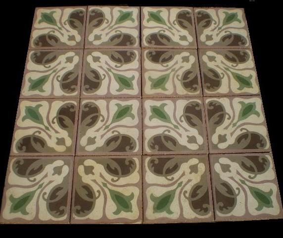 OLD TILES - Old Patterned Tile - OLD ANTIQUE TILE - Old Tiles - LUXURY STYLE .es traditional