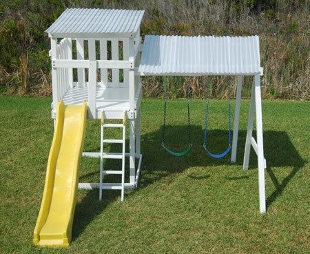 Metroplay The Modern Pre Fab Playhouse And Swingset