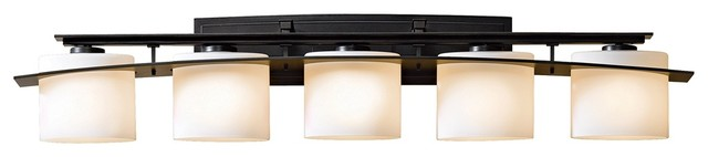 "Arts and Crafts - Mission Hubbardton Forge Stone Glass 42"" Wide Bath Light traditional-bathroom-vanity-lighting"