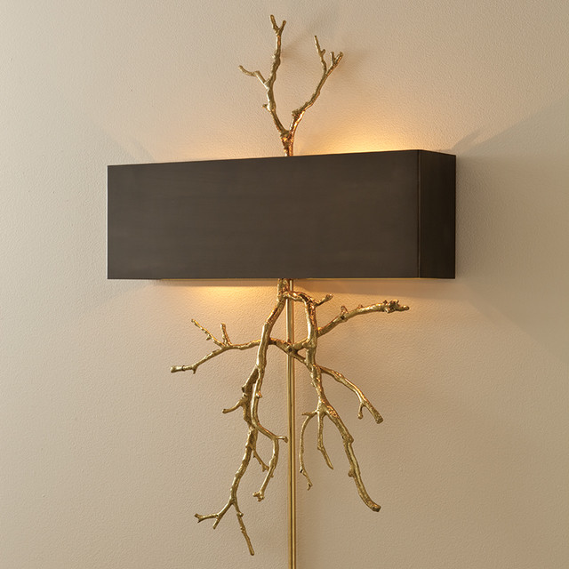 Decorative Electric Wall Sconces : twig sconce, gold - Eclectic - Wall Sconces - oklahoma city - by BELLA VICI