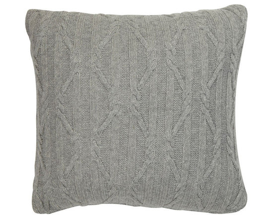 Ethan Allen - Twisted Cable Pillow, Gray - Like a favorite sweater, our cable knit pillow is cozy and classic. A touchable lambswool blend makes this pillow soft and helps the design to keep its beautiful shape.