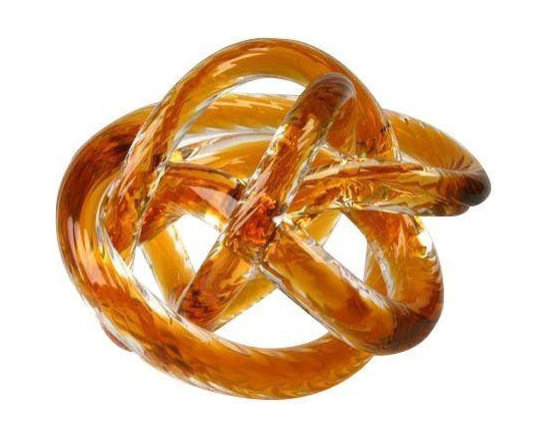 Large Hand Blown Glass Knot Sculpture - $685 Est. Retail - $200 on Chairish.com -