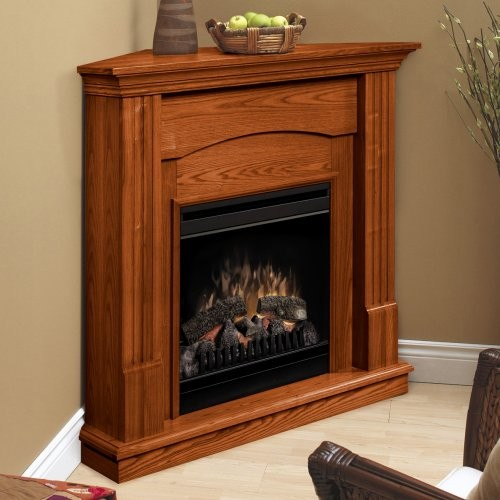 Dimplex Branson Oak Corner Electric Fireplace traditional-indoor-fireplaces