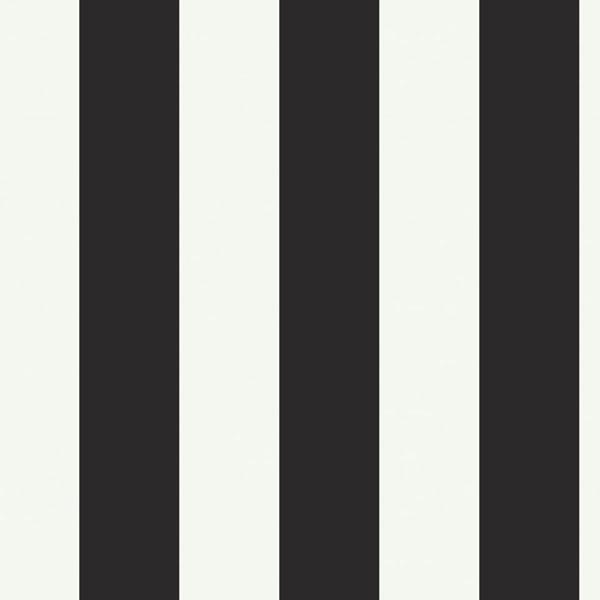 Silk Stripe Black & White Wallpaper - modern - wallpaper - - by ...