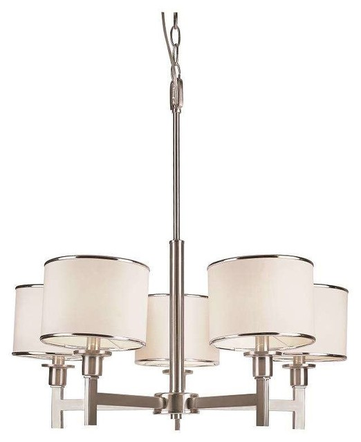 Trans Globe Lighting 1055 BN Chandelier In Brushed Nickel traditional-chandeliers