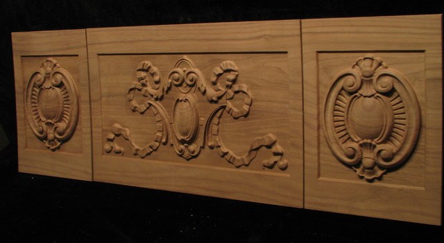 Mantel Face - Custom Reproduction traditional-fireplaces