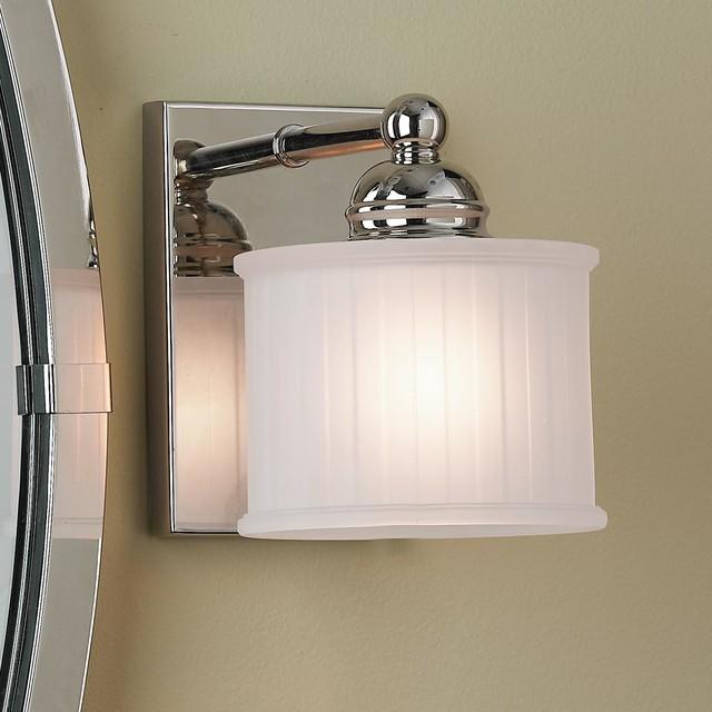Fluted Drum Shade Bath Light 1 light lamp-shades