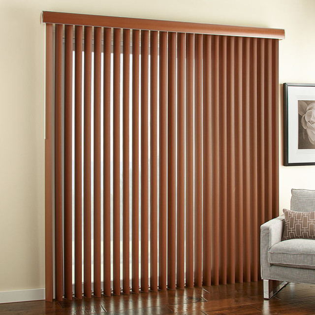 3 1 2 embossed faux wood vertical blinds contemporary vertical blinds phoenix by. Black Bedroom Furniture Sets. Home Design Ideas
