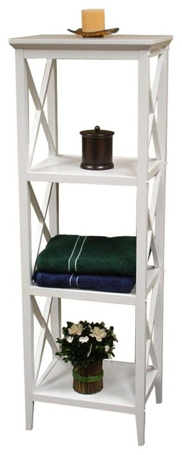 x frame bathroom storage collection white towel tower