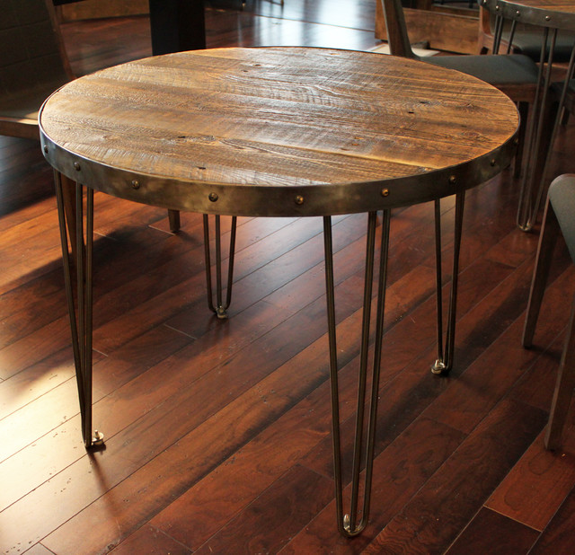 Reclaimed Wood Round Table Industrial denver by JW  : industrial from www.houzz.com size 640 x 618 jpeg 135kB