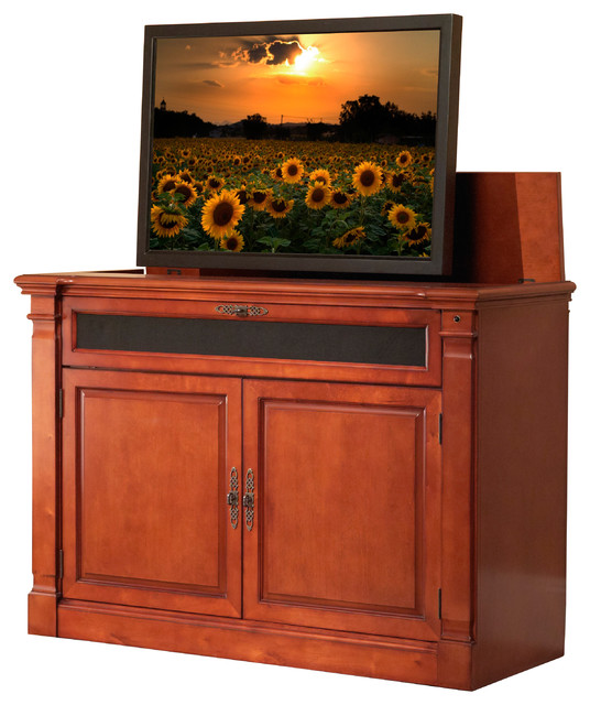 Adonzo Tv Lift Cabinet For Flat Screen Tvs Up To  Traditional Home