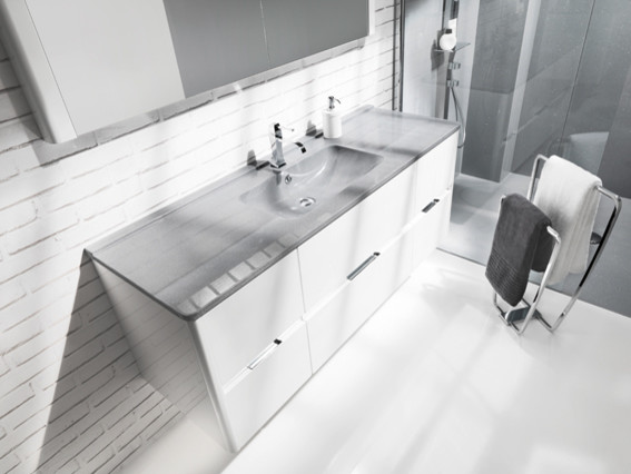 SMO™ SYNTHETIC RESIN:SAME MATERIAL, SAME COLOUR, SAME FINISH modern-bathroom-vanities-and-sink-consoles