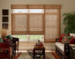 Bali Premium Woven Wood Shades traditional-living-room