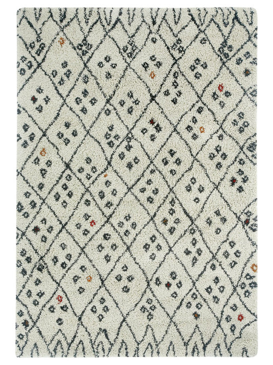 Tangier rug in Pebbles - Fashionable Moroccan patterns provide plenty of North African Tribal style at an incredible value price point.