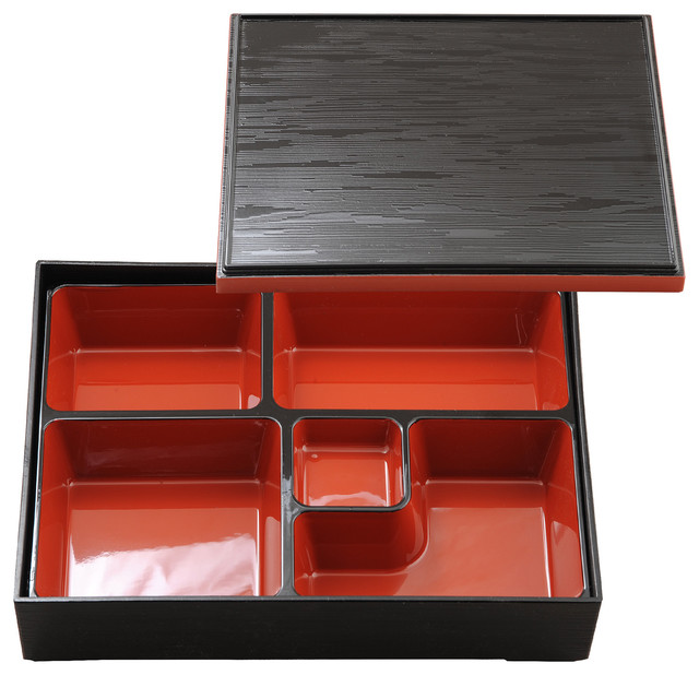 bento box with cover asian lunch boxes and totes by korin. Black Bedroom Furniture Sets. Home Design Ideas