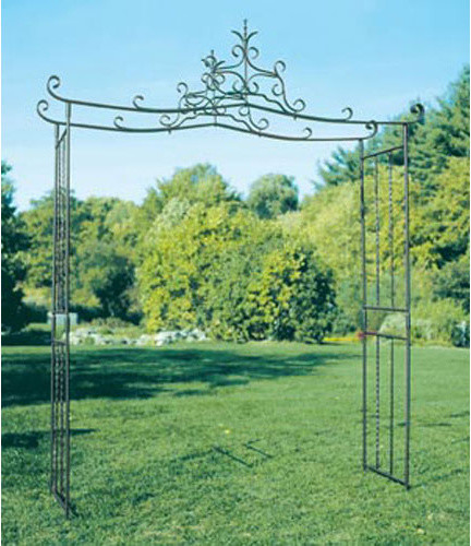 Chippendale Wrought Iron Arbor Traditional Pergolas